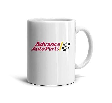 Amazon Com Ruslin Aap Advance Auto Parts White Ceramic Mugs
