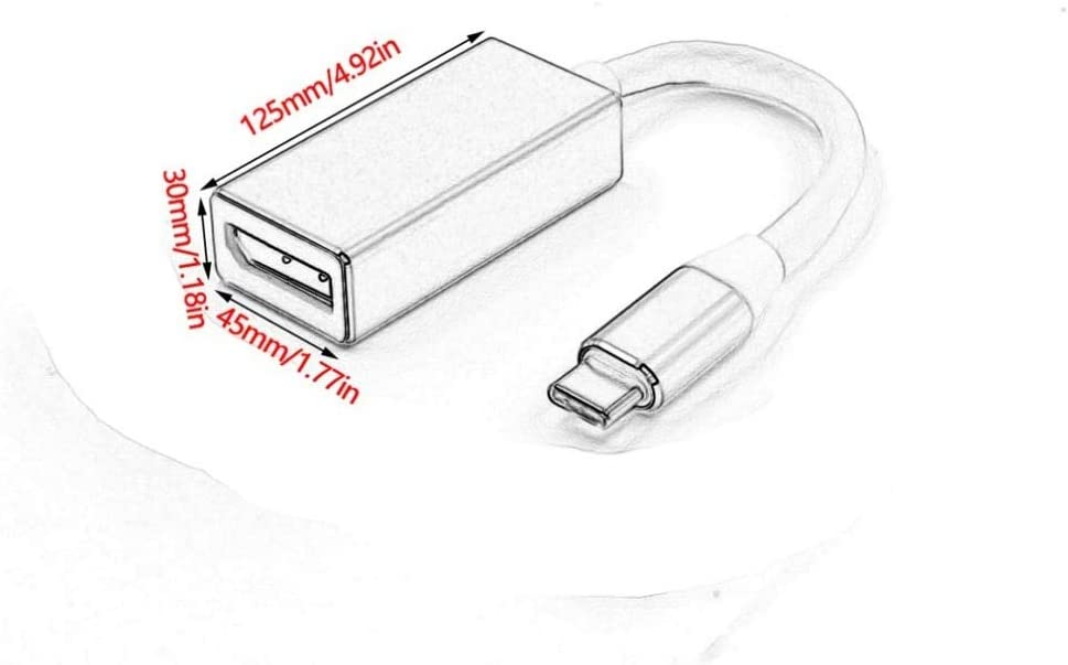 US, Cable Length: 0m, Color: Silver Cables 1080P USB 3.1 Type C to DP Adapter USB-C to Display Port Adapters Converter Support 4K UHD for MacBook Pro 2015//2016//2017