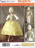 Simplicity Sewing Pattern 3635 Misses 18th Century Undergarments, Corset, Chemise, Panniers (Hoop Skirt)