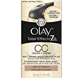 OLAY Total Effects 7 In One Anti-Aging Moisturizer + Touch Of Foundation Light To Medium 1.7 oz (Pack of 2) For Sale