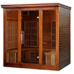Radiant Saunas 4-5 Person Cedar Infrared Sauna with 9 Carbon Heaters