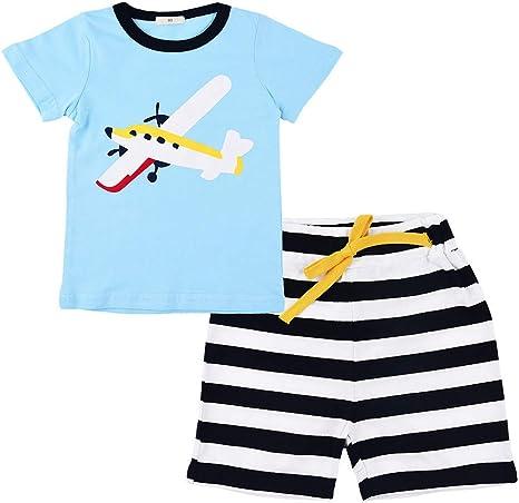 Ropa Conjuntos para bebé niño, Tops y Pantalones Cortos Estampado ...