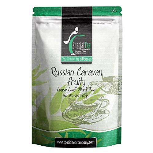 Special Tea Loose Leaf Black Tea, Russian Caravan Fruity Black Blend, 8 Ounce (Russian Caravan Black Tea)