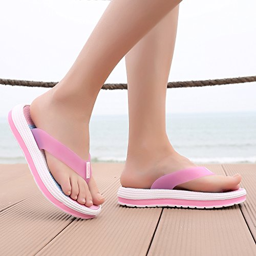 Zapatillas Sandalias Rosa de de Playa Hishoes Mujer Verano Chanclas Zapatos Mujer Respirable Chancletas n0En4w7qO