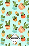 "GM&Co: Notebook Journal Dot-Grid, Lined, Graph, 120 pages 5.5""x8.5"": Cactus Cacti Succulent Lover"
