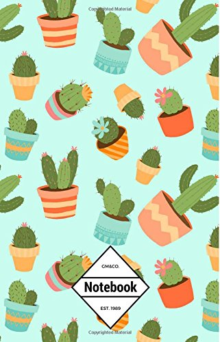"Download GM&Co: Notebook Journal Dot-Grid, Lined, Graph, 120 pages 5.5""x8.5"": Cactus Cacti Succulent Lover ebook"
