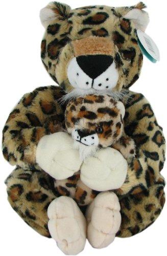 Bevery Hills Teddy Bear Company Plush Cheetah with Baby (Flush Teddy Bear)