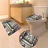 MikiDa Non Slip Bathroom Rugs copenhagen old town architectural feature church of the holy spirit capital Absorbent Cover