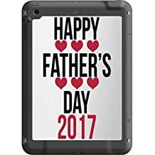 Happy Father's Day 2017 Quote with Red Hearts Design Pattern Image Lifeproof Fre iPad Air Vinyl Decal Sticker Skin by Trendy Accessories