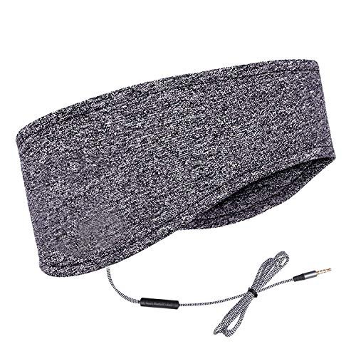 MMUSS Sleep Headphones Eye Mask for Sleeping with Ultra-Thin HD Stereo Speakers & Travel Bag Perfect for Insomnia, Side Sleepers, Nap, Snoring, Air Travel, Meditation & Relaxation (Grey)