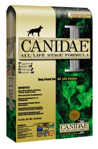 Canidae Dry Dog Food for All Life Stages, Chicken, Turkey, Lamb, and Fish, 30-Pound