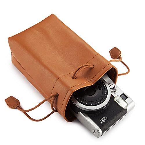 in Instax Flylther pelle Fujiflim tracolla mini borsa Borsa per con marr¨®n fotocamera Flylther PU 7ZZAtq