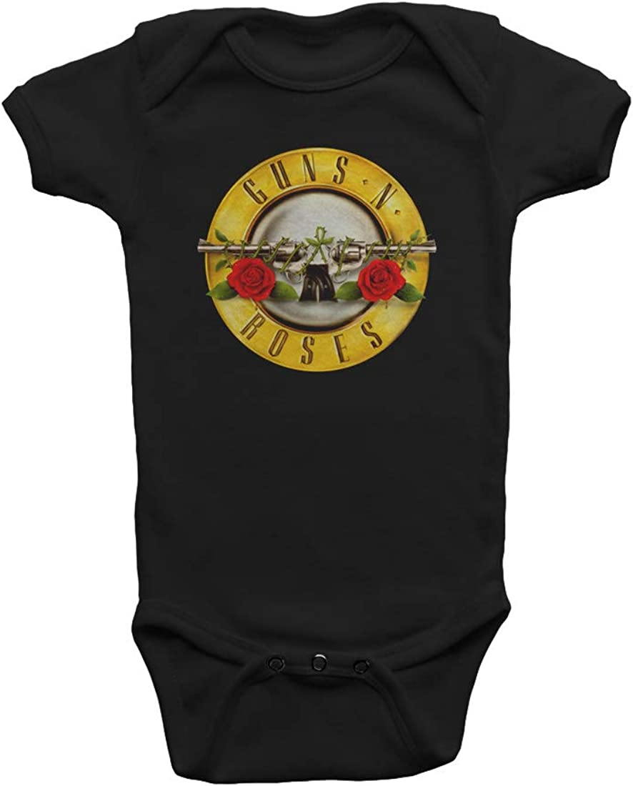 Takeyia Guns N Roses Sign Tee Cute Infant Tshirts Black