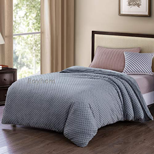 "Royhom Removable Duvet Covers for Weighted Blanket | Minky Pot Duvet Cover | Comfortable Blanket Cover | Grey 60"" x 80"""