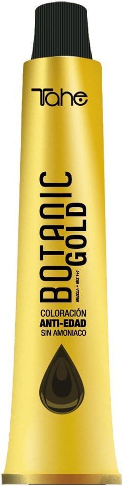 Tahe Botanic Gold Tinte Cabello Profesional/Tinte Pelo/Coloración Capilar Permanente Sin Amoniaco Nº 1 Negro, 100 ml