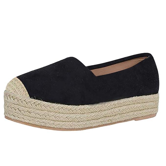 420f68aa4eddd Amazon.com: SUNyongsh Loafers Leisure Shoes Women Grass Weaving ...