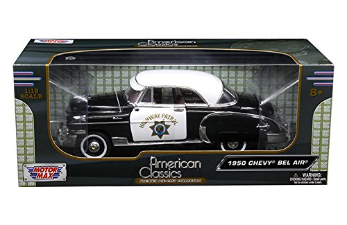 Motor Max 1:18 American Classics 1950 Chevrolet Bel Air California Highway Patrol Chp Diecast (1950 Chevrolet Bel Air Vehicle)