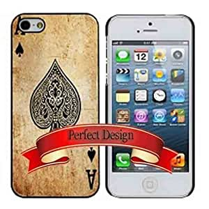 Ace Of Spades Card From Poker Game iphone 5 5s Case