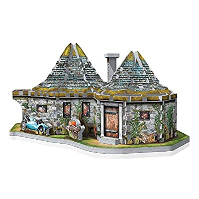 Wrebbit 3D - Hagrid's Hut 3D Jigsaw Puzzle – 270-Piece: Toys & Games