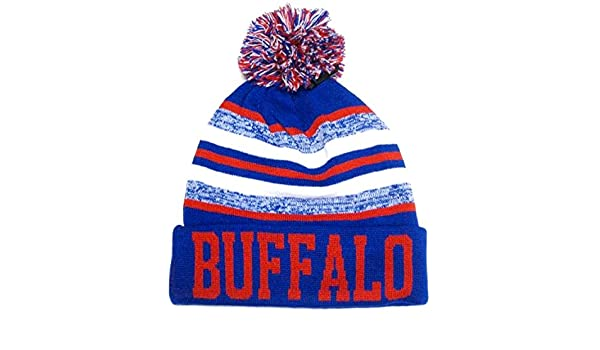 Amazon.com   Buffalo Blue   Red Classic POM Ball Knit Hat Cap Winter Ski  Beanie   Sports   Outdoors ce0765efc
