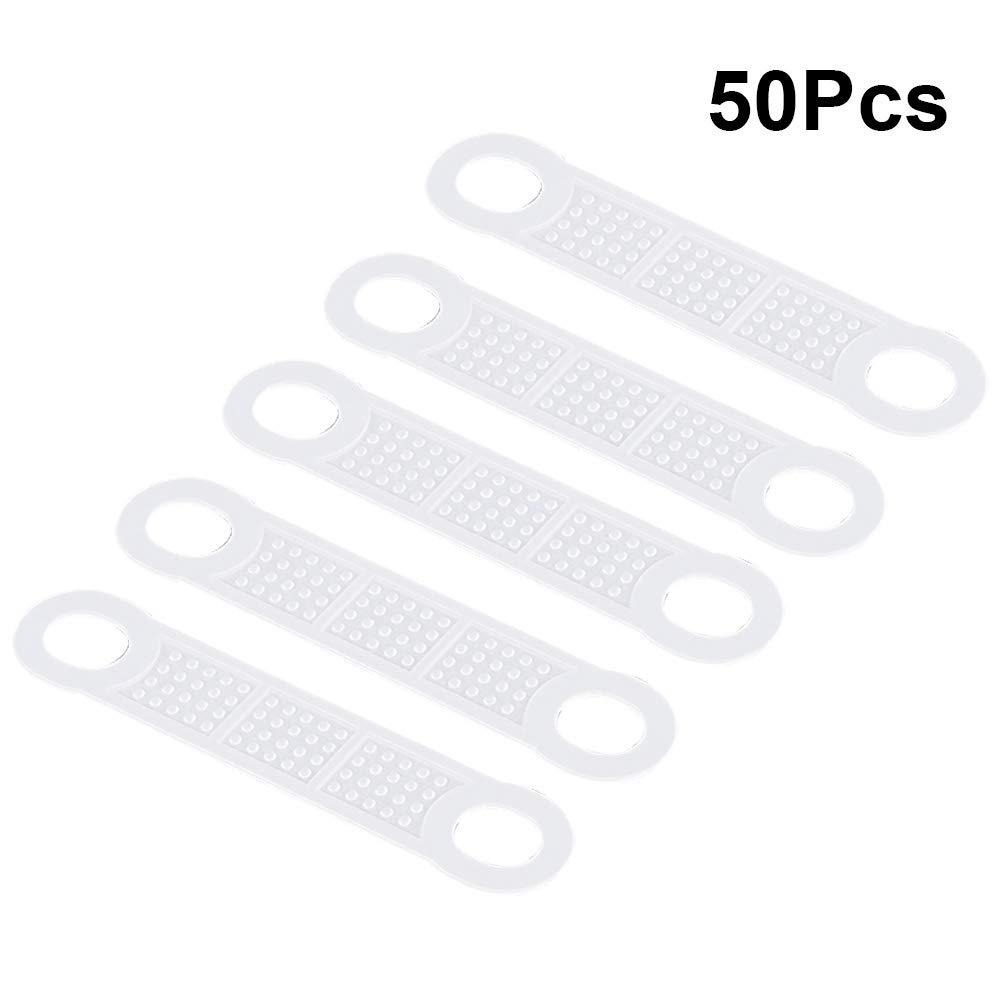 Yardwe Ruban Adh/ésif Antid/érapant Adh/ésif Silicone Adh/ésif Adh/ésif Transparent Grips Bandes Accessoires de Garde-Robe 50 PCS