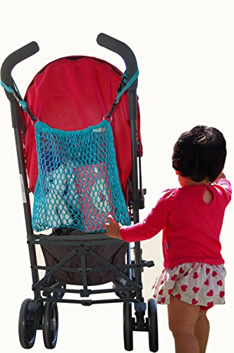 Stroller mesh bag, net storage bag, lightweight Baby Bag Organizer. great way to carry all your on-the-go baby essentials. Easily attaches to the back of any stroller by DABADA