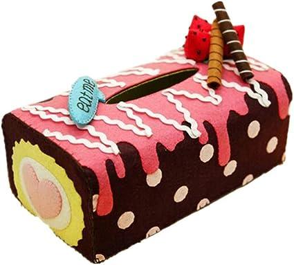 SUPVOX Caja de pañuelos Postre de Fresa Caja de pañuelos servilletas Toallas de Papel Soporte de Almacenamiento Coche baño en casa: Amazon.es: Coche y moto