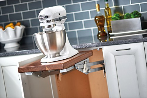 Rev-A-Shelf RAS-ML-HDSC Appliance Lift with Soft-Close Mechanism, Chrome by Rev-A-Shelf