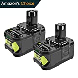 Ryobi 18V Battery-Turpow 2 Pack 18V 4.0Ah One+ Lithium Ion Replacement Battery for Ryobi ONE+ P102 P108 P122 P105 P104 P103 P107 BPL-1815 BPL-1820G BPL18151 BPL1820 Cordless Power Tools Battery