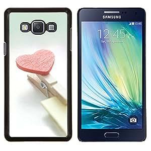 YiPhone /// Prima de resorte delgada de la cubierta del caso de Shell Armor - Corazón y clips - Samsung Galaxy A7 A7000