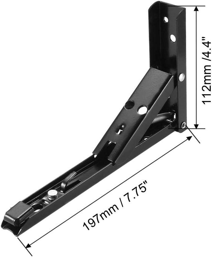 brazo de liberaci/ón plegable Sourcingmap montaje en pared Soporte plegable para estanter/ías de mesa ahorro de espacio
