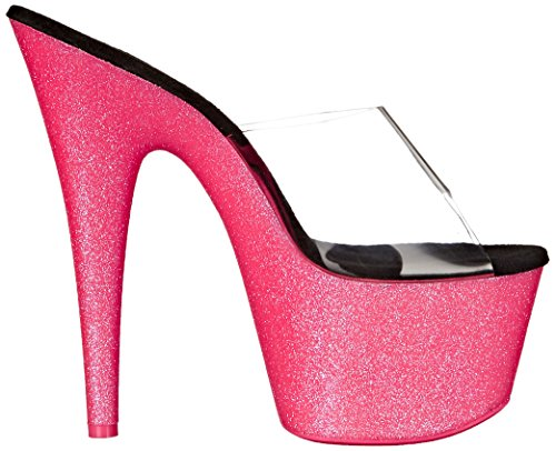 701uvg Pink Clr Glitter H Neon Pleaser Rose Sandales Femme Adore aq5qx48p