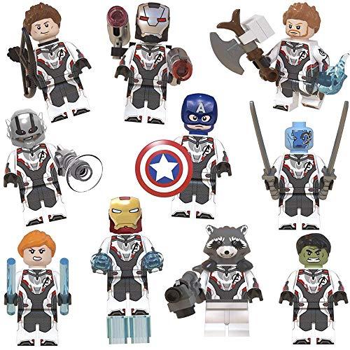 10 pcs Superhero Mini Building Block Action Figures - Mini Super Heroes Figures with Accessories - Super Heroes Set Building Blocks - Building Blocks Brick DIY Toys Children