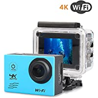 OTHA Action camera Waterproof, 16MP 4K WiFi Sports Cam with  170° Ultra Wide-Angle Len Rechargeable Battery for Underwater and outdoor photography