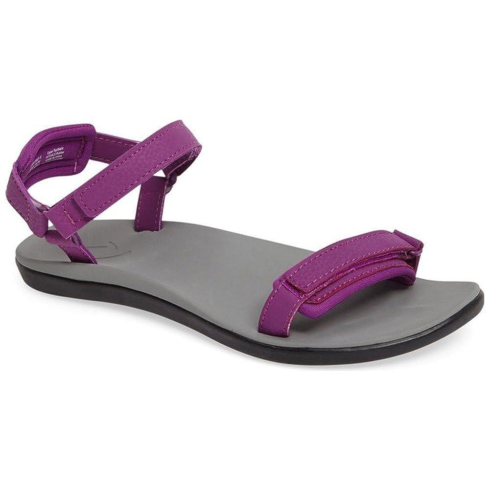 Dahlia Pale gris 11 Peu Enfant M OluKai Luana Girl's Comfort Adjustable Strap Sandals