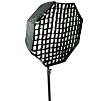 Pro 30-Inch Octagon Umbrella Speed lite Softbox Brolly Reflector with Grid