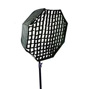 CowboyStudio Pro 30-Inch Octagon Umbrella Speed lite Softbox Brolly Reflector with Grid