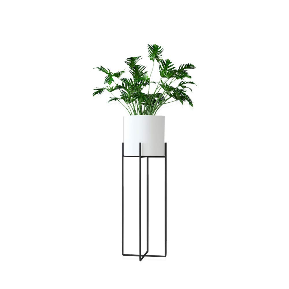 JOANNA'S HOME White Planter with Stand Tall Modern Plant Stand Indoor Outdoor Decoration Potted Plant Stand for Multiple Plants 27 Inch - White by JOANNA'S HOME