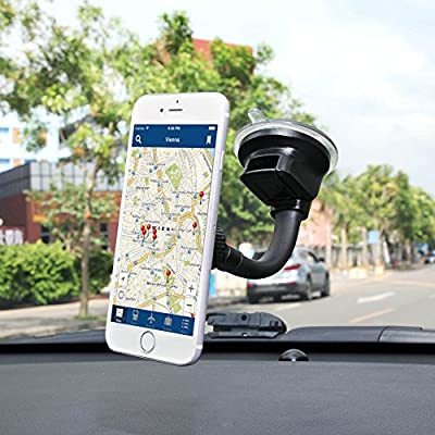 Ultimate Flexible Arm Magnetic Dash Mount Windshield Phone Holder w/ Strong Sticky Suction Cup for IPhone X 8 7 Plus 6S Plus Samsung Galaxy S9 S8 S7 Edge Note 5 HTC U12 U11 Sony Xperia Z5 HUAWEI