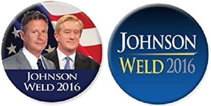 "Gary Johnson For President 2016 Libertarian Campaign Pin 2020 Button 2 1//4/"""