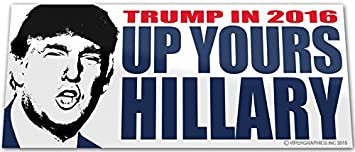 "Hillary for Prison Bumper Sticker 2016 Anti-Hillary Bumper Sticker 4/""x6/"""