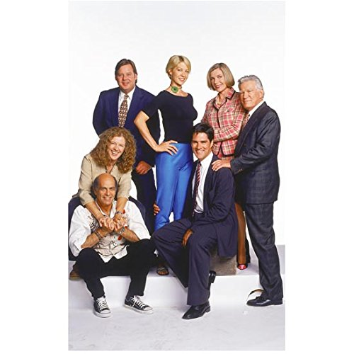 Dharma And Greg Group Cast Shot Standing And Sitting Together Looking Happy 8 X 10 Inch Photo