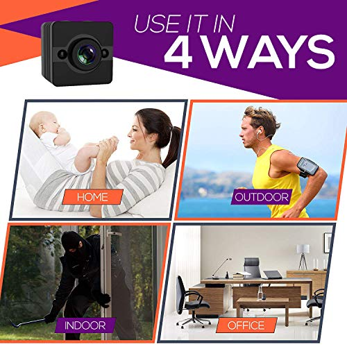 Mini Hidden Spy Camera,Lionsoul Wireless 1080P HD Waterproof Portable Sport IP Security Camera with Motion Detection/Night Vision
