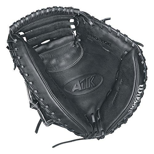 Wilson A1K Catcher's Mitt, Black/Metallic (Super Baseball Glove Skin)