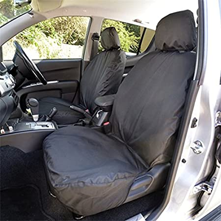 Grey UK Custom Covers SC105G Tailored Heavy Duty Waterproof Front Seat Covers