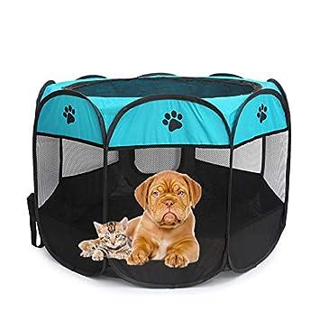Whso Cama para Mascotas Tienda De Mascotas Portátil Plegable Casa De Perro Jaula Perro Tienda De