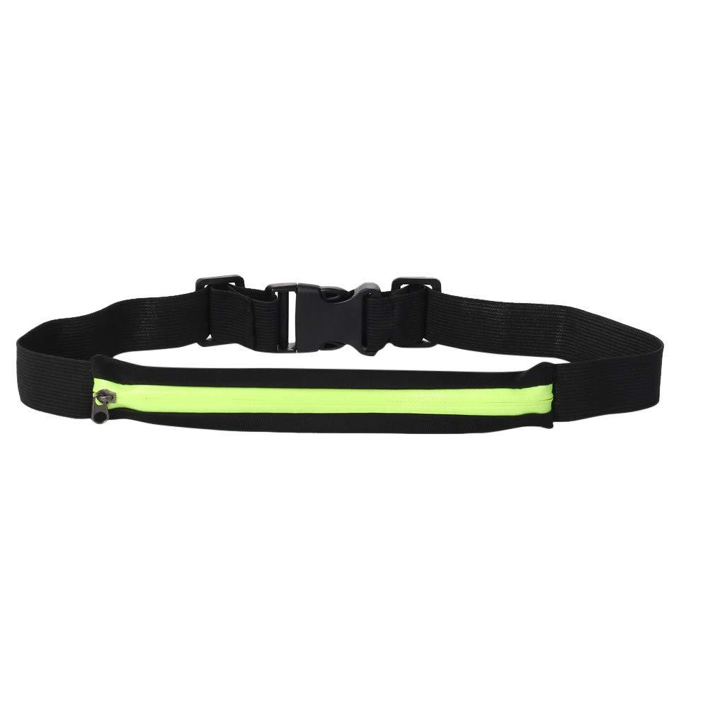 Leedford Men Women Outdoor Stretch Sports Belt Pockets Mobile Phone Bag, Cell Phone Pocket for Runners Belt,Jogging,Fitness,Gym (Green, 1 pc)