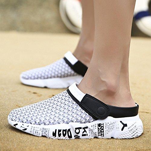 Xing Lin Sandalias De Hombre Verano Nuevo Agujero BirdS Nest Zapatillas Para Hombres Tendencia Sandalias De Gran Tamaño Para Hombres Verano Antideslizante De Suela Gruesa Sandalias De Playa Light grey