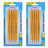 Papermate 3037631PP SharpWriter Mechanical Pencils, Twistable Tip, 0.7 Mm, 2 Blisters of 5 Pencils, Total 10 Pencils