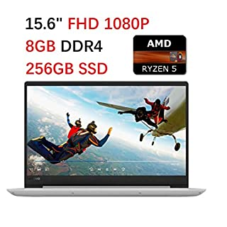 "2019 Premium Lenovo Ideapad 330 Laptop 15.6"" Full HD (1920 x 1080), AMD Quad-Core Ryzen 5 2500U up to 3.6GHz(Beat i7-7500U), 8GB DDR4, 256GB SSD, WiFi 802.11ac, Bluetooth, HDMI, Windows 10, Gray"